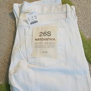 NWT J. Crew White Matchstick Skinny Jeans